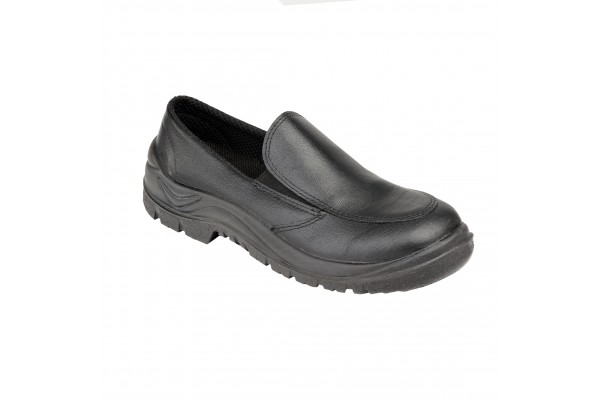 Ladies Black Slip on Shoe