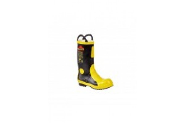 Black/Yellow Electrical Insulative Rubber Fireman Boot