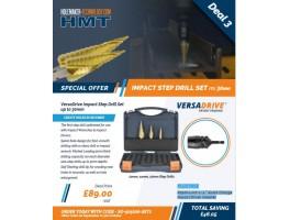 HMT VersaDrive Impact Step Drill Set up to 30mm