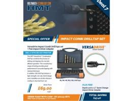 VersaDrive Impact Combi DrillTaps set + Free Impact Driver Adapter