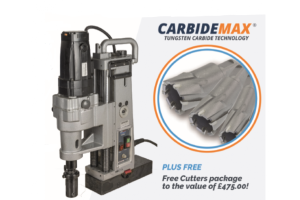 HMT MAX200 Magnetic Drill Kit plus a Range of Free Cutters
