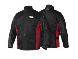 Lincoln Shadow Grain Leather-Sleeved Jacket