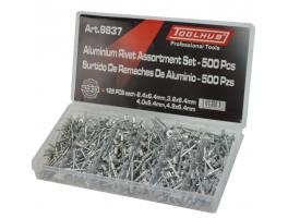 Aluminium Rivet assortment set 500 Piece