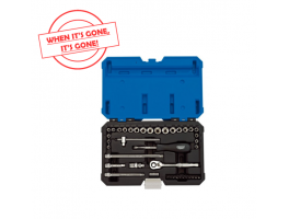 "1/4"" SQ. DR. COMBINED MM/AF SOCKET SET (40 PIECE)"