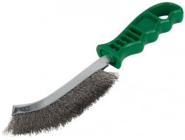 Green Handled Stainless Steel Brush