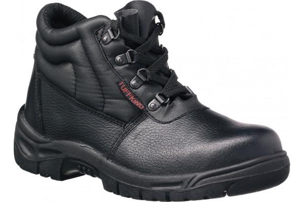 TUFFKING Black Leather Chukka Boot